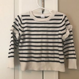 Gap striped ruffle sweater sz 4T girl